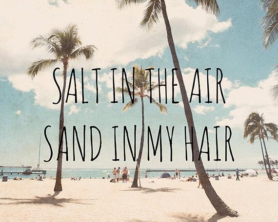 Sandy hair, don't care.