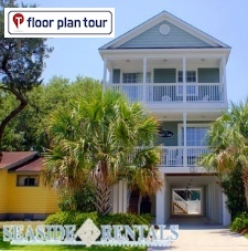 Floor Plan Tours of our house rentals in South Carolina